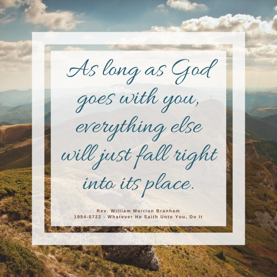 As Long As God Goes With You
