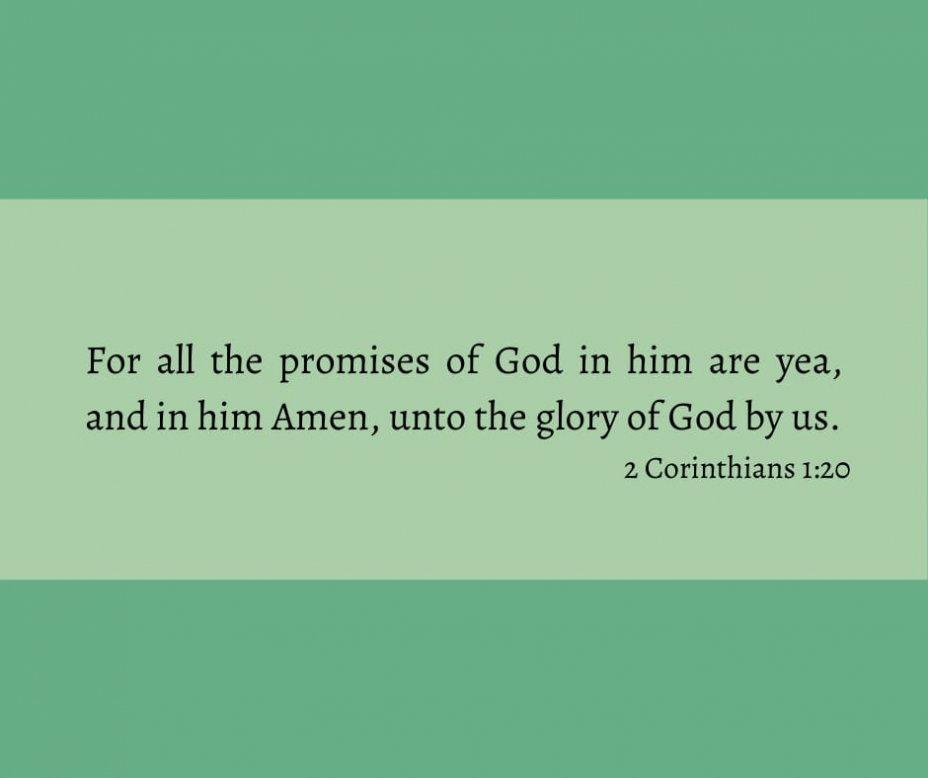 II. Corinthians 1:20