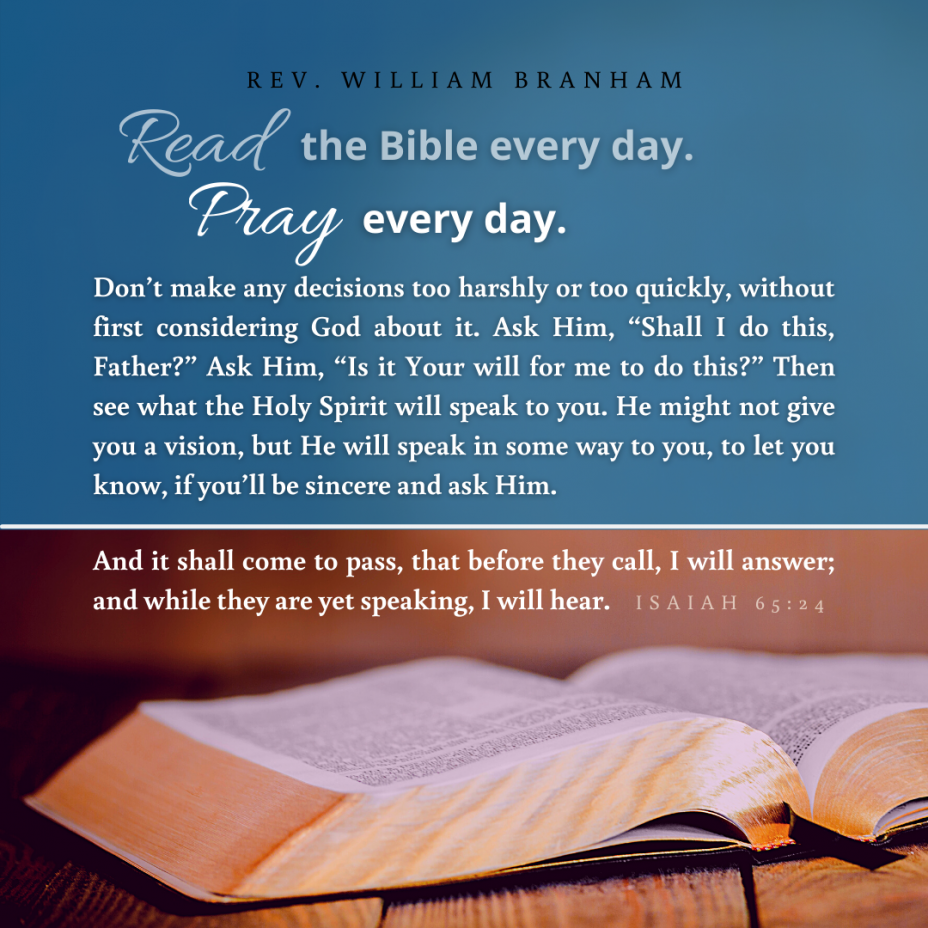 Read The Bible And Pray Every Day